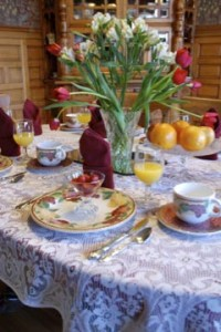 yummy and elegant breakfast at the sanders - Helena's Bed and Breakfast